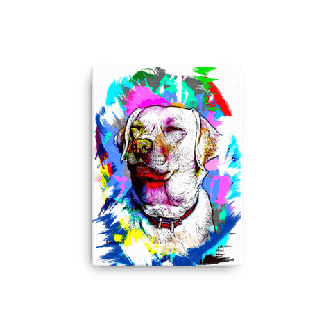 Labrador Artistic Photo Art Canvas 12x16