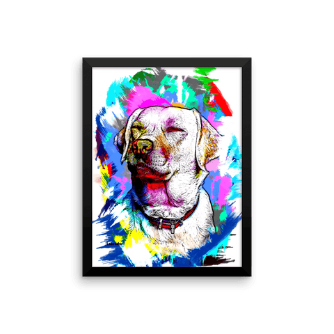Labrador Artistic Photo Art Framed Poster 12x16