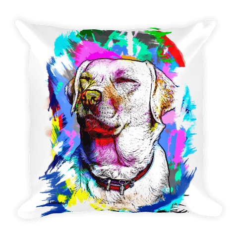 Labrador Artistic Photo Art Decorative Pillow - Front View