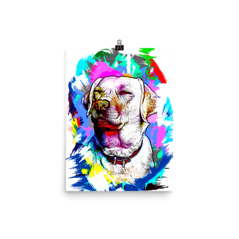 Labrador Artistic Photo Art Poster 12x16