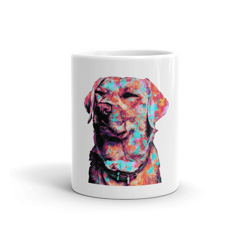 Labrador Colorful Painting 11oz Mug - Front View