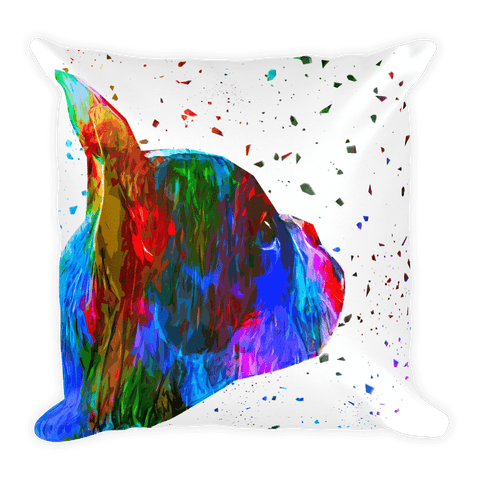 Nono Jr Mascot Colorful Poly Decorative Pillow - Front View