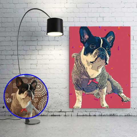 Custom Wall Art of your Pet - Pop Art