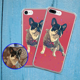 Custom iPhone 7 7Plus Case of your Pet - Pop Art