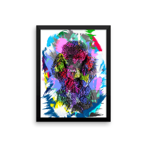 Poodle Artistic Photo Art Framed Poster 12x16
