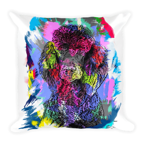 Poodle Artistic Photo Art Decorative Pillow - Front View