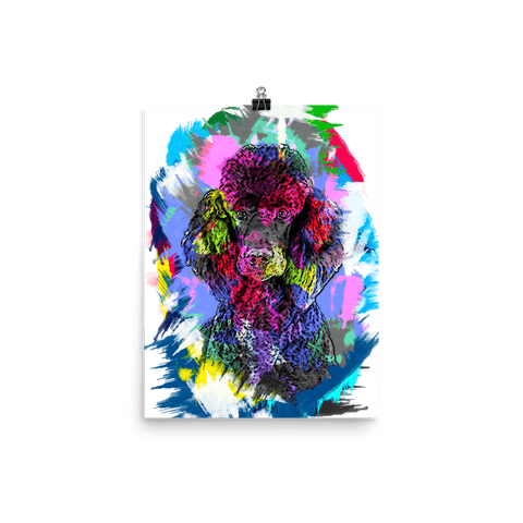 Poodle Artistic Photo Art Poster 12x16