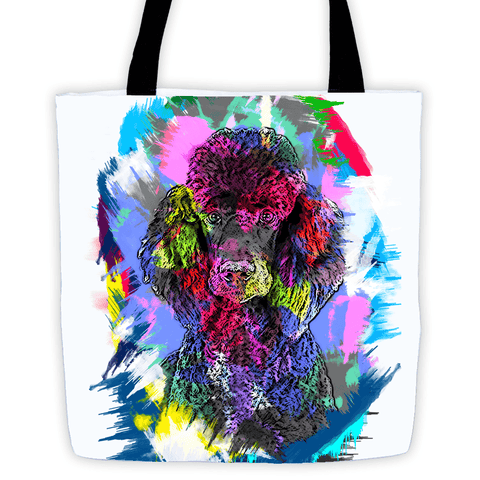 Poodle Artistic Photo Art All-Over Tote Bag