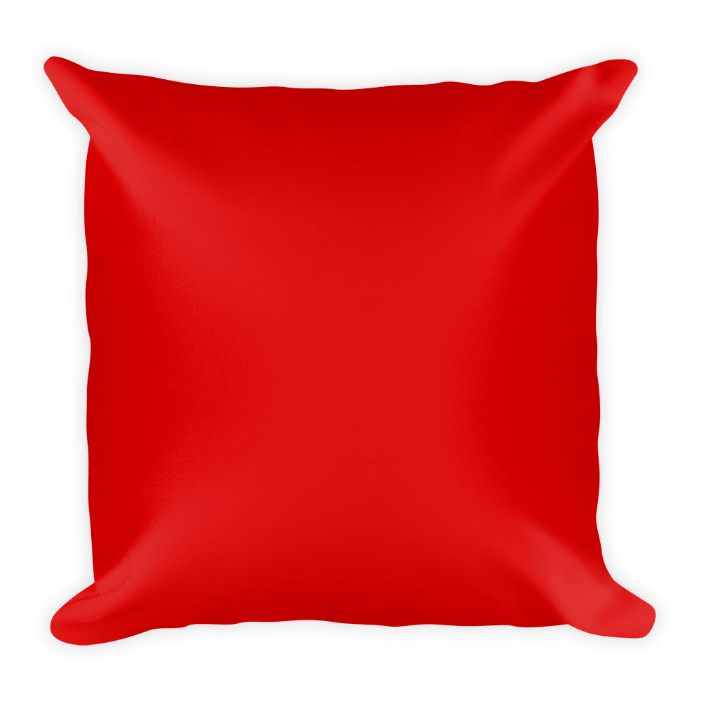 rottweiler duotone comic red decorative pillow  back view. rottweiler duotone comic red decorative pillow – proudlypaw