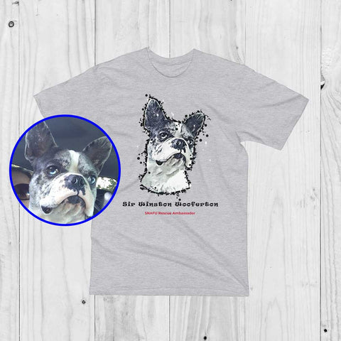 SNAFU Rescue Support Sir Winston Wooferton Paint Art Men Unisex T-Shirt Heather Grey Product ProudlyPaw Image