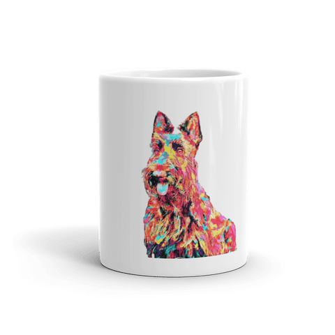 Scottish Terrier Colorful Painting 11oz Mug - Front View