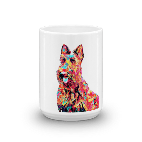 Scottish Terrier Colorful Painting 15oz Mug - Front View