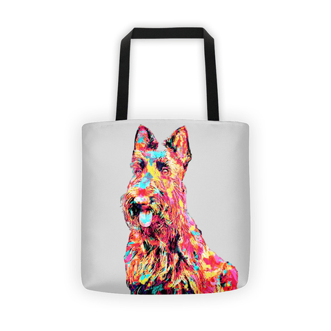 Scottish Terrier Colorful Painting All-Over Tote Bag