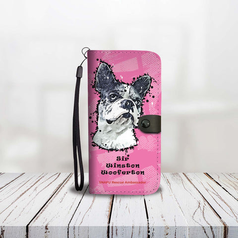 Sir Winston Wooferton SNAFU Rescue Paint Art Wallet Phone Case Main Image Product Preview Pink Edition