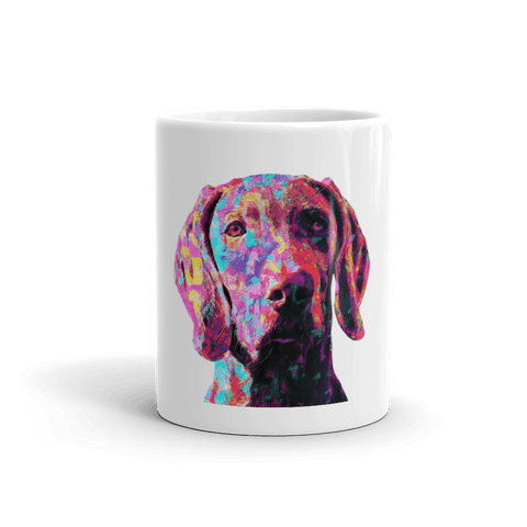 Weimaraner Colorful Painting 11oz Mug - Front View