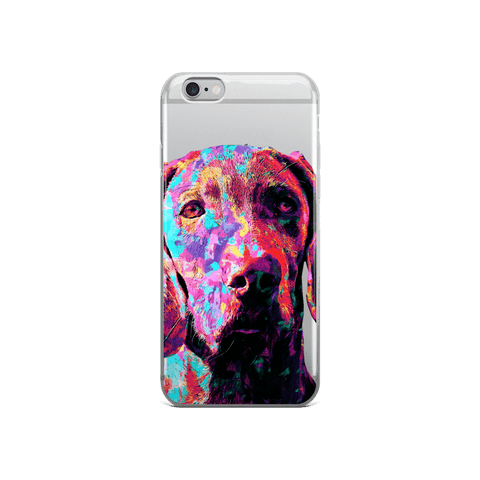 Weimaraner Colorful Painting iPhone Case