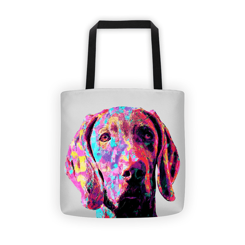 Weimaraner Colorful Painting All-Over Tote Bag