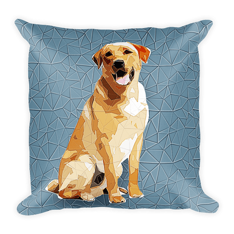 Labrador Retriever Polygonal Art - Square Pillow