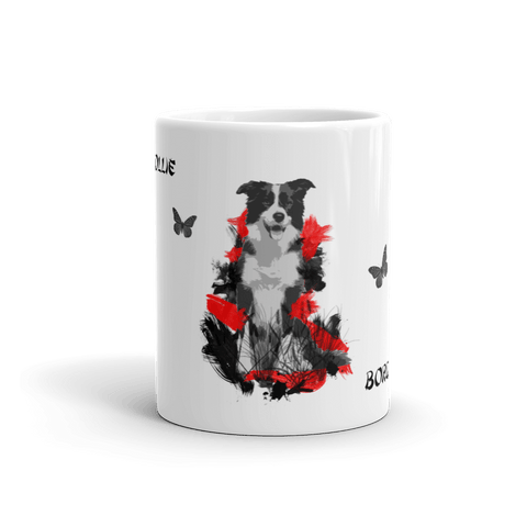 Border Collie Chinese Painting - 11oz Mug