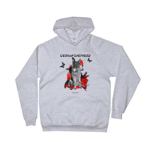 German Shepherd Chinese Painting - Pullover Hoodie