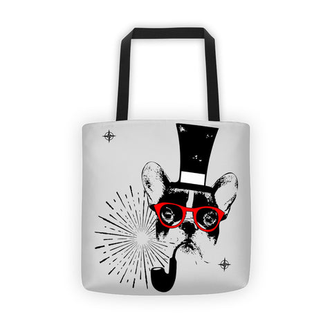 Frenchie Gentleman -  All-Over Tote bag
