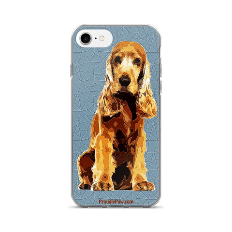 Cocker Spaniel Polygonal Art - iPhone 7/7 Plus Case