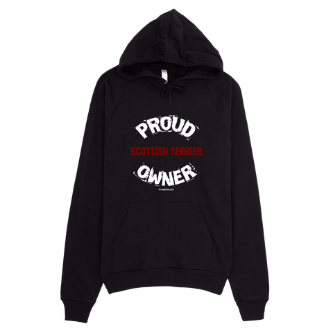 Proud Scottish Terrier Owner / White - Pullover Hoodie