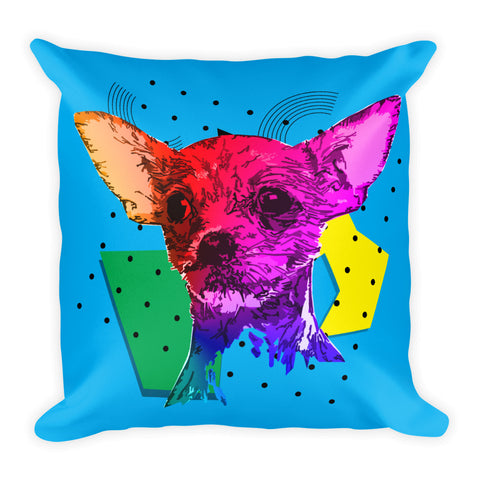 Chihuahua Modern Art - Home Decor Square Throw Pillow Front View