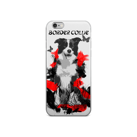 Border Collie Chinese Painting - iPhone Case