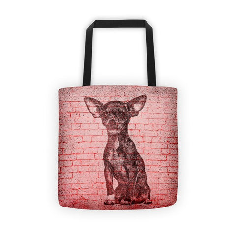Chihuahua On Wall All-Over Tote bag