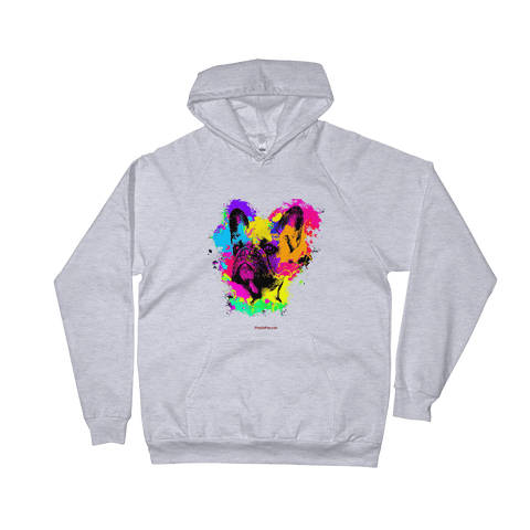 Frenchie Bulldog Colorful Paint - Pullover Hoodie