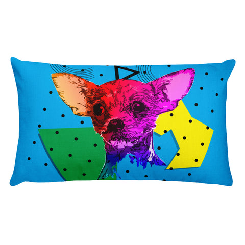 Chihuahua Modern Art - Home Decor Rectangular Pillow Front View
