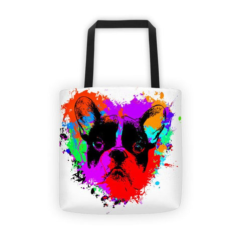 For The Love of Frenchie - All-Over Tote Bag