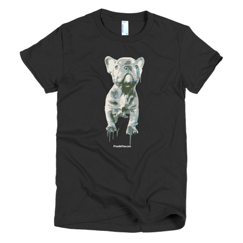 Blue Frenchie Celebration - Dark Colors - Women's t-Shirt