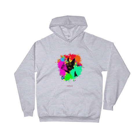Boston Terrier Colorful Paint - Pullover Hoodie