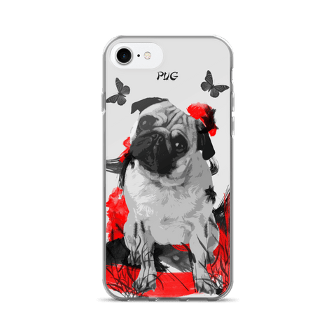 Pug Chinese Painting - iPhone 7/7 Plus Case