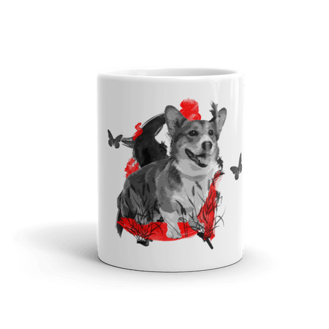 Corgi Chinese Painting - 11oz Mug