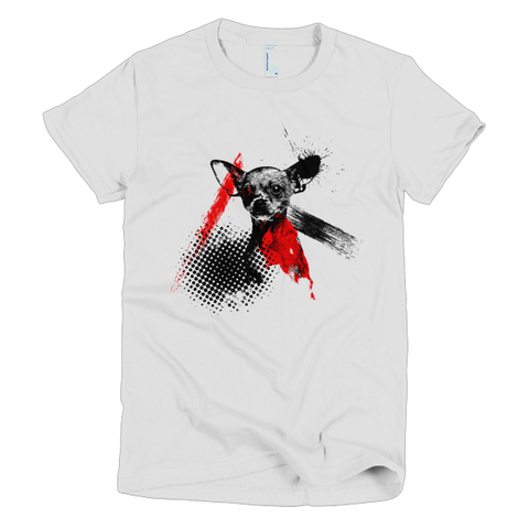 Chihuahua Trash Polka Tattoo Style - Women's T-Shirt