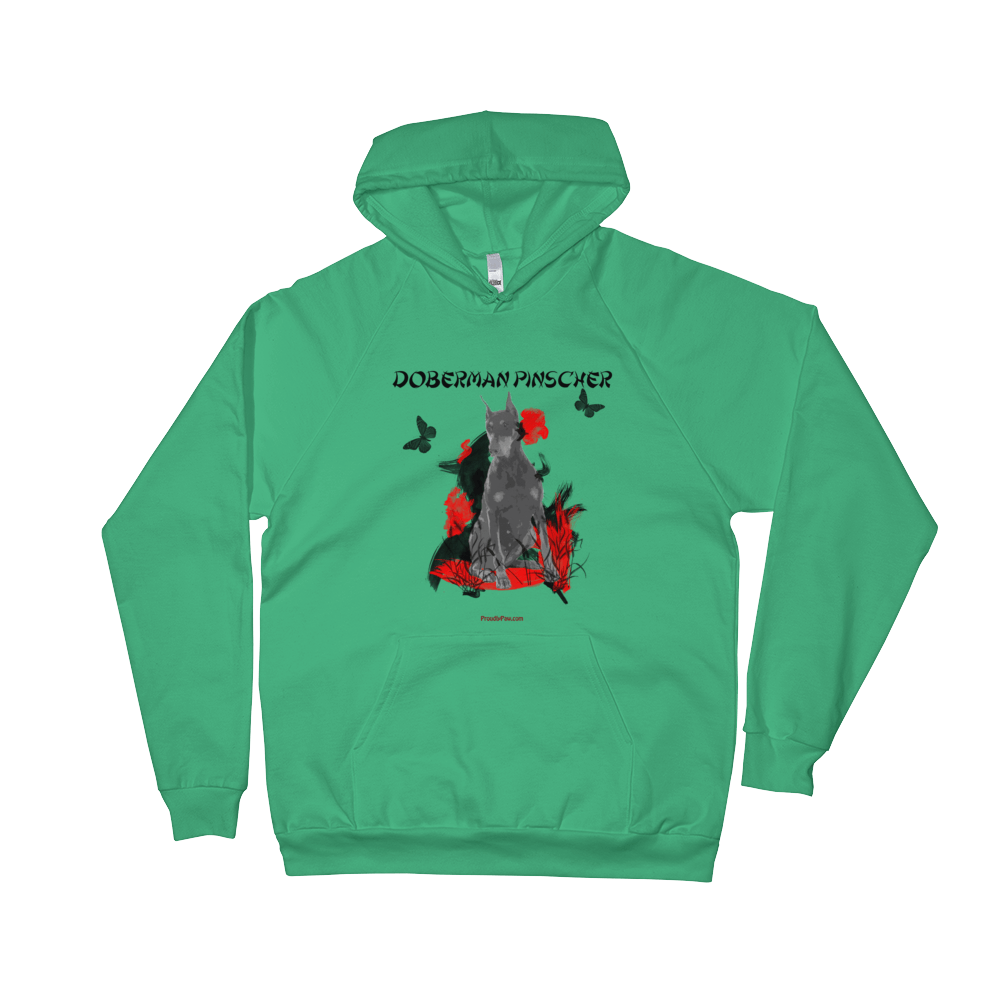 Doberman Pinscher Chinese Painting Pullover Hoodie Unisex Usa