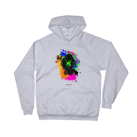 Poodle Colorful Paint - Pullover Hoodie