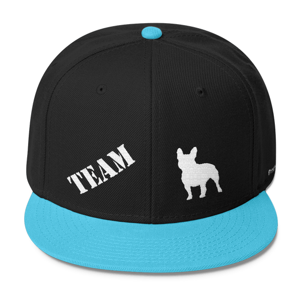 bbc58a26e4867 TEAM French Bulldog - Wool Blend Snapback – ProudlyPaw