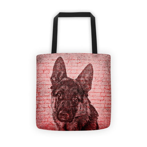 German Shepherd On Wall All-Over Tote bag