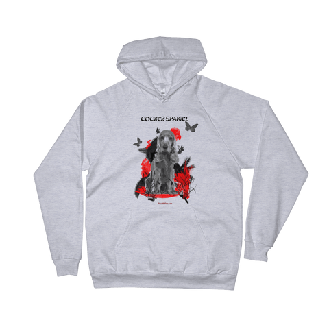 Cocker Spaniel Chinese Painting - Pullover Hoodie