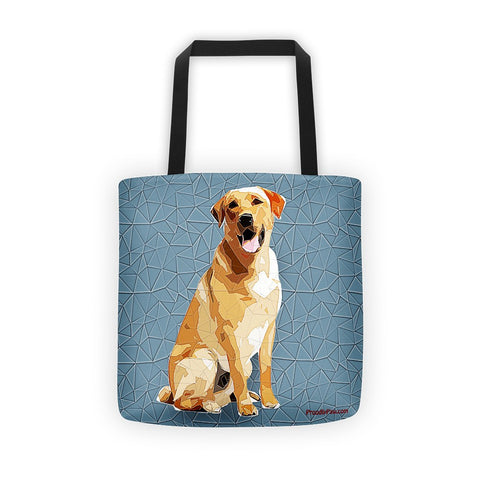 Labrador Retriever Polygonal Art - All-Over Tote Bag