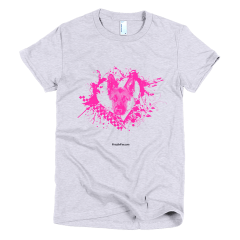German Shepherd LOVE - Short Sleeve Women's T-Shirt