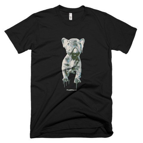 Blue Frenchie Celebration - Dark Colors - Men's t-Shirt