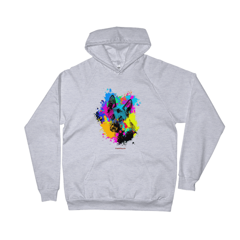 German Shepherd Colorful Paint - Pullover Hoodie