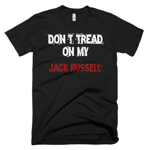 Don't Tread On My Jack Russell / White - Short Sleeve Men's T-Shirt