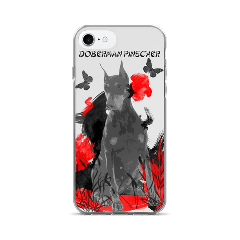 Doberman Pinscher Chinese Painting - iPhone 7/7 Plus Case
