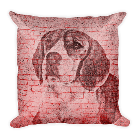 Beagle On Wall Decorative Pillow